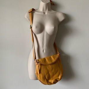 The Sak yellow leather crossbody bag